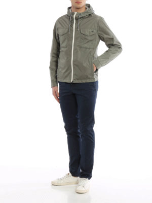 Fay: casual jackets online - Wind proof nylon hooded jacket