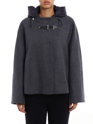 Fay: casual jackets online - Wool cloth flared jacket