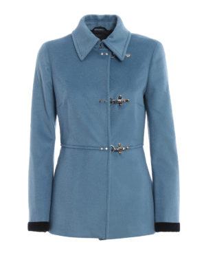 FAY: giacche casual - Giacca in panno di lana e cashmere celeste