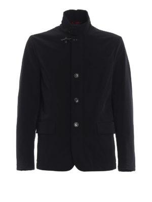 FAY: giacche casual - Giacca nera in taffetà tecnico stretch