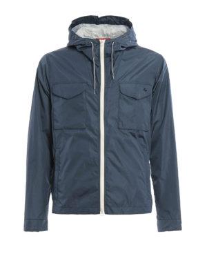 Fay: casual jackets - Wind proof nylon hooded jacket