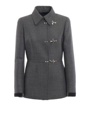 FAY: giacche casual - Giacca in misto lana con polsi di velluto