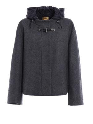 Fay: casual jackets - Wool cloth flared jacket