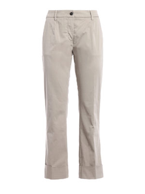 Fay: casual trousers - Beige cotton straight leg trousers