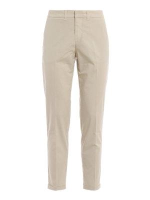 FAY  pantaloni casual - Pantaloni chino in cotone stretch beige aec7b3f1e52