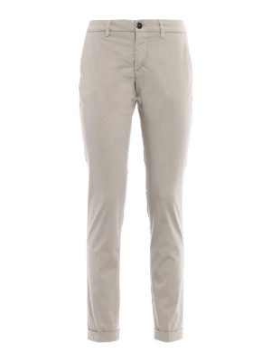 Fay: casual trousers - Beige stretch cotton trousers