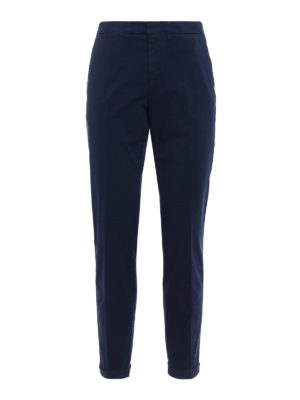 Fay: casual trousers - Cotton blend blue trousers
