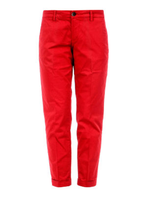 Fay: casual trousers - Cotton crop chinos