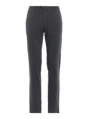 FAY: pantaloni casual - Pantaloni chino grigi in cotone stretch
