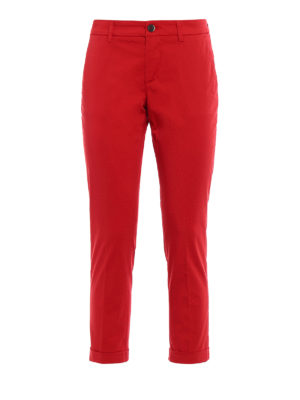 Fay: casual trousers - Logo and turn-up crop trousers