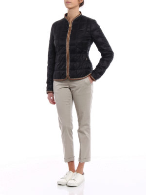 Fay: casual trousers online - Beige chino trousers with turn-ups