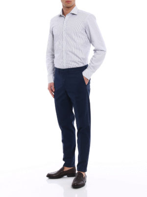 Fay: casual trousers online - Cotton blend blue trousers