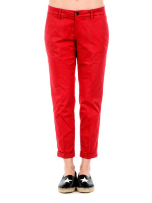 Fay: casual trousers online - Cotton crop chinos