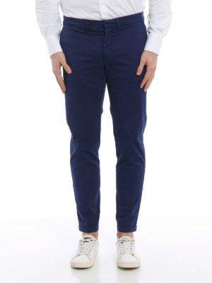 Fay: casual trousers online - Stretch cotton capri trousers