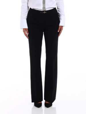 Fay: casual trousers online - Stretch wool flared trousers