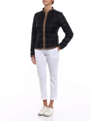 Fay: casual trousers online - White chino trousers with turn-ups
