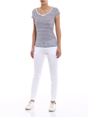 Fay: casual trousers online - White stretch cotton trousers