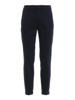 FAY: pantaloni casual - Pantaloni blu scuro in morbido cotone