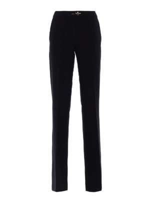 Fay: casual trousers - Stretch wool flared trousers