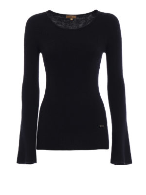 Fay: crew necks - Bell sleeves ribbed wool crewneck