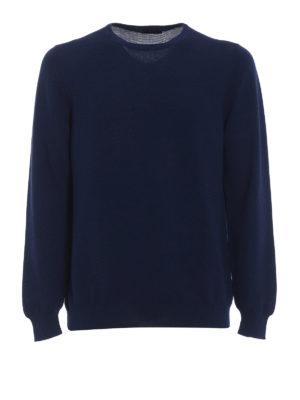 Fay: crew necks - Blue cotton crew neck sweater