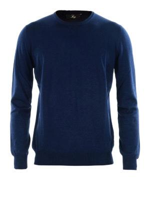 FAY: maglia collo rotondo - Girocollo in cotone blu