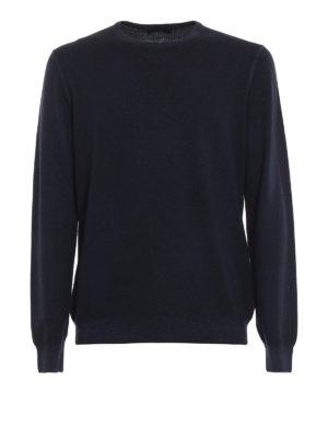FAY: maglia collo rotondo - Morbido girocollo in lana vergine blu