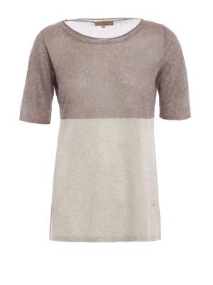 Fay: crew necks - Colour block short sleeve sweater