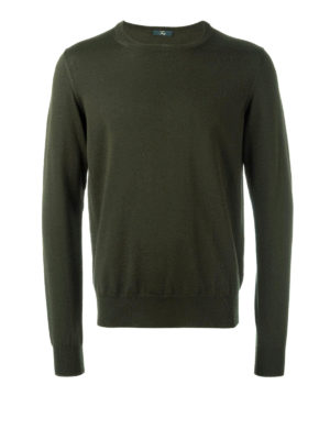 Fay: crew necks - Contrasting trimmed pullover
