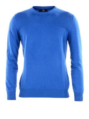 FAY: maglia collo rotondo - Girocollo in cotone bluette