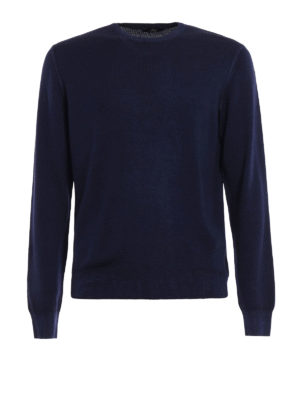 Fay: crew necks - Garment-dyed wool sweater