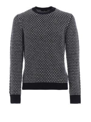 FAY: maglia collo rotondo - Pullover in lana jacquard