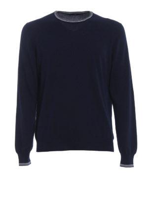 Fay: crew necks - Logo embroidery detail sweater