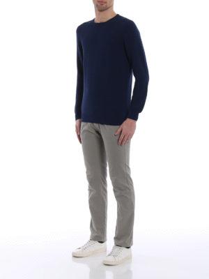 Fay: crew necks online - Blue cotton crew neck sweater
