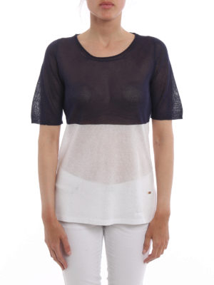 Fay: crew necks online - Colour block short sleeve sweater
