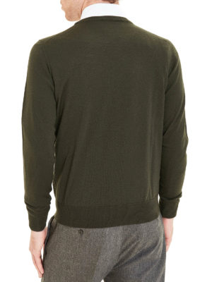 Fay: crew necks online - Contrasting trimmed pullover
