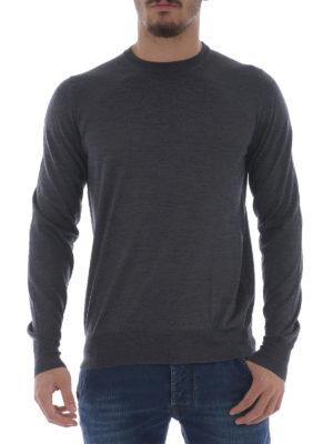 Fay: crew necks online - Dark grey extra fine wool sweater