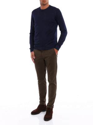 Fay: crew necks online - Garment-dyed wool sweater