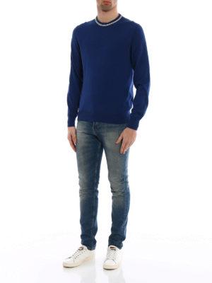 Fay: crew necks online - Stripes detail cotton sweater