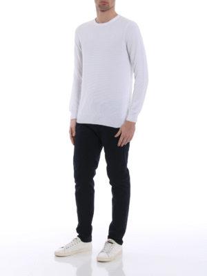 Fay: crew necks online - White cotton crew neck sweater