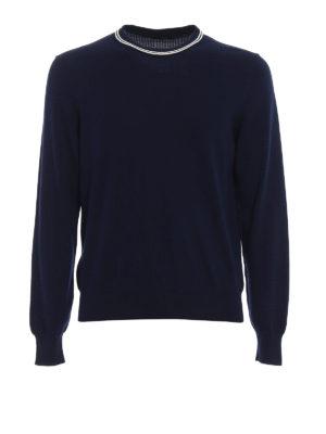 Fay: crew necks - Stripe detailed cotton sweater