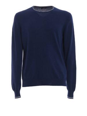 Fay: crew necks - Striped neck and cuffs sweater
