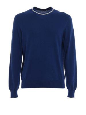 Fay: crew necks - Stripes detail cotton sweater