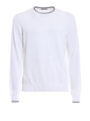 Fay: crew necks - Sweater with striped neck and cuffs