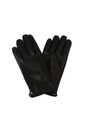 FAY: guanti - Guanti in morbida pelle marrone