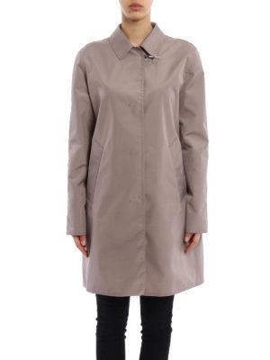 Fay: knee length coats online - Semi glossy overcoat