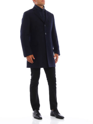Fay: knee length coats online - Wool padded coat