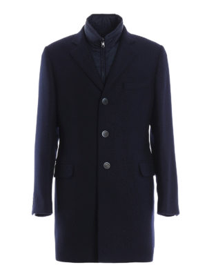 Fay: knee length coats - Wool padded coat
