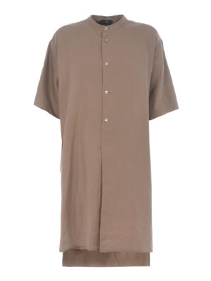 FAY: knee length dresses - Linen shirt dress