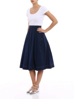 Fay: Knee length skirts & Midi online - Cotton poplin flared midi skirt